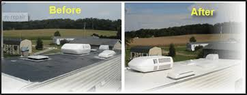 Before and After of RV Roof